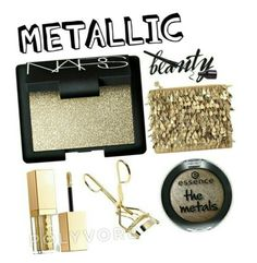 """Metalic"" by babybeauty101 ❤ liked on Polyvore featuring beauty"