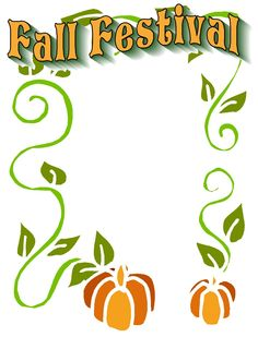 Fall Festival Graphics | Christian Images In My Treasure Box: Fall Activity Flyer Starters