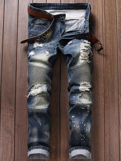 Cheap young men jeans, Buy Quality fashion men jeans directly from China mens fashion jeans Suppliers: 2017 Plus Size Men Jeans Fashion Trend Casual Ripped Jeans Cotton Skinny Slim Jeans Denim Pants Trousers Cowboys Young Man Jeans Look Fashion, New Fashion, Kids Fashion, Autumn Fashion, Skinny Fashion, Fashion Site, Fashion Clothes, Jeans Fashion, Casual Clothes