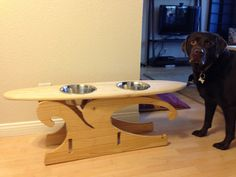 Dog Cat Pet Food and Water Bowl Stand Holder ANY by JermCreationz, $40.00