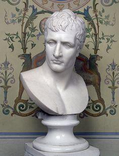 Canova, Antonio (1757-1822) Busto di Napoleone (Bust of Napoleon Bonaparte) c. 1802 Marble, h. 54 cm Hermitage Museum,Saint Petersburg  See also: •Napoleon I(1769-1821)