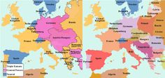 Map of Europe Before and After World War 1, what new countries did the Treaty of Versailles and the Treaty of Breast-Litovsk create? Description from mrknighths.weebly.com. I searched for this on bing.com/images