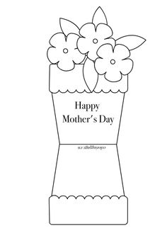 Mother Day Flowers Coloring Pages Mothers Day Pinterest - Free mother's day card templates