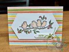 Stampin' Up! Bird Ballad Suite with Free as a Bird stamp set Bird Cards, Easy Gifts, Flower Cards, Stampin Up Cards, Paper Design, I Card, Free, Card Making, Paper Crafts