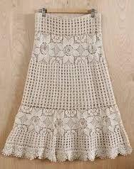 Resultado de imagem para roupas de croche saias