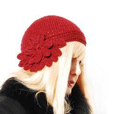 Women Hat Crochet Hat  Women Crochet Hat  Cloche Hat by Danfe, $32.00
