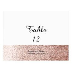 Rose Gold Faux Glitter Table Seating Card - glitter glamour brilliance sparkle design idea diy elegant