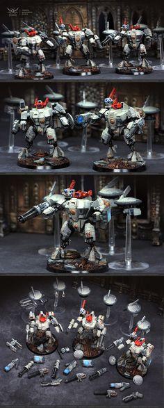 Tau XV8 Crisis Battlesuits