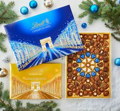 In a pinch for Christmas gift? We've got you covered with a HUGE selection of delicious holiday gift boxes. Just add a bow and you're done! Holiday Fun, Holiday Gifts, Christmas Gifts, Christmas Decorations, Lindt Chocolate, Gift Boxes, Chocolates, Bow, Seasons