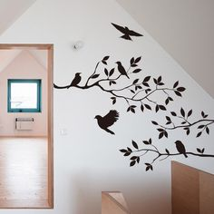 Black Bird Tree Branch Wall stickers Wall Decal Removable Art Home Mural Decor ** Startling review available here  : DIY : Do It Yourself Today