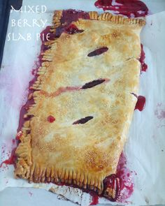 Mixed Berry Slab Pie  www.blahnikbaker.com