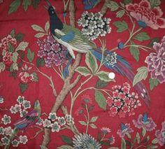 LEE-JOFA-KRAVET-TREE-OF-LIFE-JACOBEAN-FLORAL-BIRDS-LINEN-FABRIC-10-YARDS-MULTI