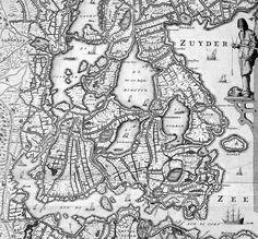Uitsnede uit de kaart van Joost Jansz. Beeldsnyder, 1575