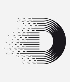 D Letter design for Non Mute, a mexican T-shirt brand and other stuffs by Clim. #D # letter