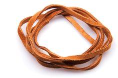 Lederband - 1 m Lederband / Wildlederband camel, 4x1,8 mm - ein Designerstück von perls4u bei DaWanda