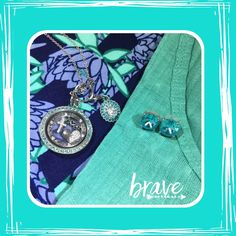 Aqua and florals are a hot trend for spring. Love my LLR classic t and leggings with my Origami Owl jewelry featuring aqua twist face locket telling my faith, hope and love story and Clara stud earrings. www.nancypye.origamiowl.com