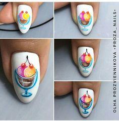Fruit Nail Art, Summer Design, Nail Tutorials, Perfect Nails, Love Nails, Nail Arts, Summer Nails, Pedicure, Nail Colors