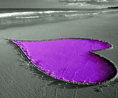 Purple Heartness-I would love to do this on our trip.  I guess I could use spray paint to color the sand, but is it safe for the enviorment.