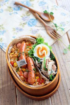 毎日がお弁当日和♪ easy Jambalaya bento. recipe in Japanese sorry