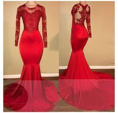 Mermaid Prom Dresses Lace, Prom Girl Dresses, Prom Dresses 2018, Prom Dresses Long With Sleeves, Lace Mermaid, Dress Prom, Prom Gowns, Long Dresses, Chiffon Dresses
