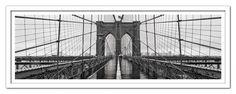"Modrest Brooklyn Bridge Framed Acrylic Painting. The Modrest Brooklyn Bridge Framed Acrylic Painting is a realistic imitation of the grandeur of Brooklyn bridge measuring of W71"" x H26"". Dimensions: W71"" x H26"" Color: Other Finish:   -"