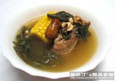 菜乾粟米煲豬骨湯【夏日消暑湯水】 Dried Bok Choi and Corn Soup from 簡易食譜