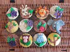 Jungle themed cupcakes from The Gourmet Cupcake Company