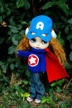 Captain America! Must do something like this to my American Girl doll.