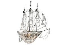 Ship Chandelier, Glass/Bronze. $5,139.00