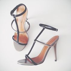 Marissa with the #ShoeCult Flux Sandal in Grey/Black || Get the heels: http://www.nastygal.com/product/shoe-cult-flux-sandal--greyblack?utm_source=pinterest&utm_medium=smm&utm_term=ngdib&utm_content=the_cult&utm_campaign=pinterest_nastygal
