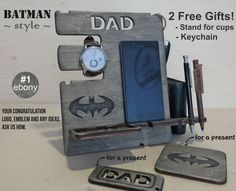 Mens birthday gift Personalized Docking Station Valentines Gift for Men Gift for Dad Gift for boyfriend Gift for Husband Tech accessories - Retractable Iphone Charger Cord - Ideas of Retractable Iphone Charger Cord - Gifts For Brother, Gifts For Husband, Gifts For Him, Personalized Gifts For Dad, Customized Gifts, Batman Gifts, Mens Valentines Gifts, Fathers Gifts, Love Gifts