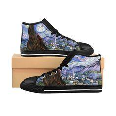 Men's High Top Sneakers, Mens High Tops, New Fashion Trends, Canvas Sneakers, Vincent Van Gogh, Uk Shop, Calves, Brand New, Etsy Shop