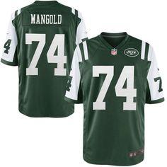 f50806844 Nike Men s New York Jets Nick Mangold Team Color Game Jersey- Nick Mangold