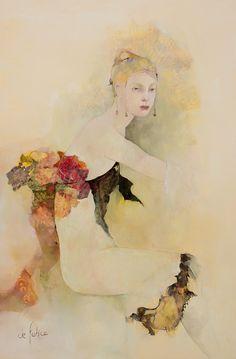 Françoise de Felice - 24 Artworks, Bio Shows on Artsy Figure Painting, Painting & Drawing, Portrait Art, Portraits, Kunst Online, Beautiful Artwork, Art Techniques, Figurative Art, Female Art