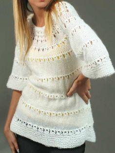 Sweater Blanco Tejido