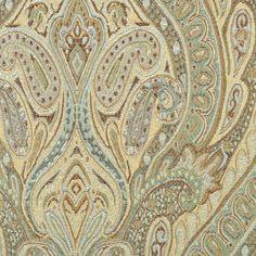 Waverly Karaj Paisley Mineral Fabric - Image 2