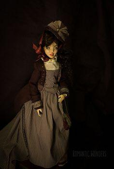 ''Lady'' handmade Ooak doll by Romantic Wonders Ooak Dolls, Art Dolls, Cotton Dresses, Romantic, Lady, Handmade, Fashion, Toys, Moda