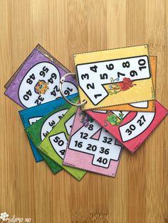 Multiplikasjonsplakater kan skrives ut i lite format og brukesd som støttekort i arbeidet!