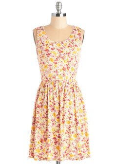 Brighten the Mood Dress. Root your look in this radiant floral dress to show off your sunny sense of style! #multi #modcloth