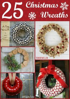 25 Christmas Wreaths Worth Hanging on Your Door; diy crafts and gift idea for the home; Holiday Pictures, Christmas Photos, All Things Christmas, Christmas Holidays, Merry Christmas, Diy Christmas Ornaments, Christmas Wreaths, Christmas Decorations, Holiday Decorating