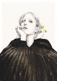 Fashion Illustrations by Esra Røise | Inspiration Grid | Design Inspiration