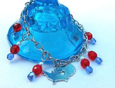 4th of July Chain Bracelet Independence Day by Willows3Creations