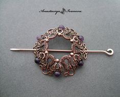 hairpin with amethysts by nastya-iv83.deviantart.com on @deviantART