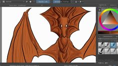 Wooden dragon speedpaint