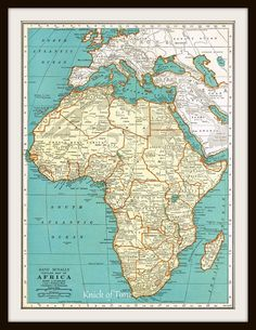 1939 Antique Map - AFRICA & EGYPT by KnickofTime on Etsy, $11.50