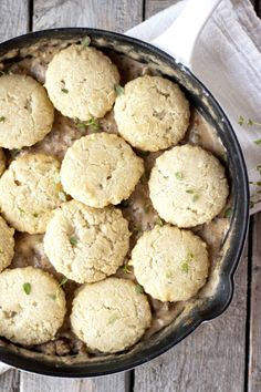 In the country, we eat Biscuits and Gravy. Lucky for you, I made a healthified version:
