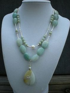 Gabrielle Threeinone necklace amazonite