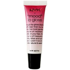 "Nyx Cosmetics ""Mood"" Lipgloss...I just got this at Target and I tried it on at my house n my lips looked AMAZING!!!!!!! It was clear on my lips and then turned pinkish red. Totally recommend this!!!!"