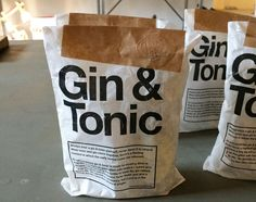 This Package From VL92 Provides You With Gin and Tonic Ingredients #drinking trendhunter.com