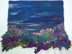 Learn all the textile techniques you need to make stunning textile art landscapes at www.colouricious.com/shop/fabric-painting-embroidery-text...